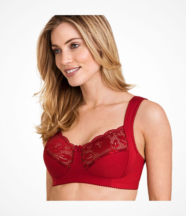 Miss Mary of Sweden Miss Mary Lovely Lace Soft Bra Red