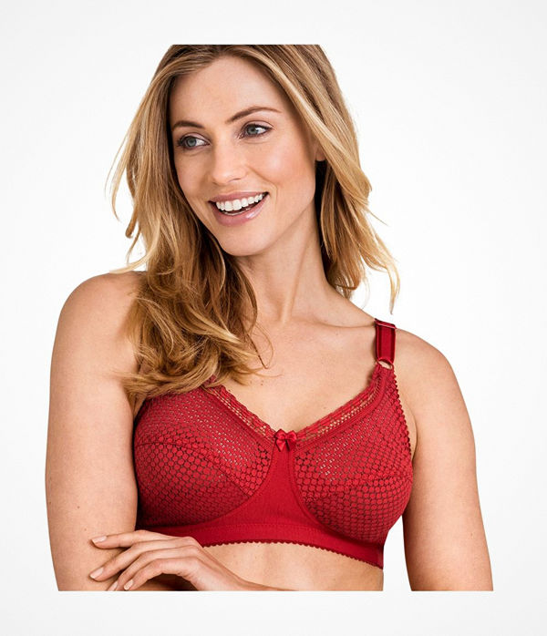 Miss Mary of Sweden Miss Mary Cotton Dots Soft Bra Red