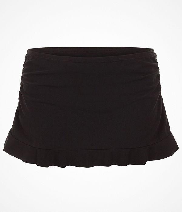Rosa Faia Kiki Skirted Bikini Bottom Black