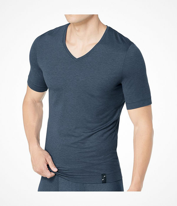 S by sloggi S by Sloggi Sophistication V-Neck Shirt Darkgrey