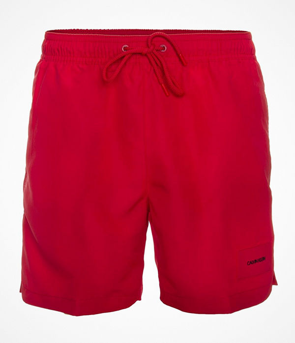 Calvin Klein Core Solids Drawstring Swim Shorts Red