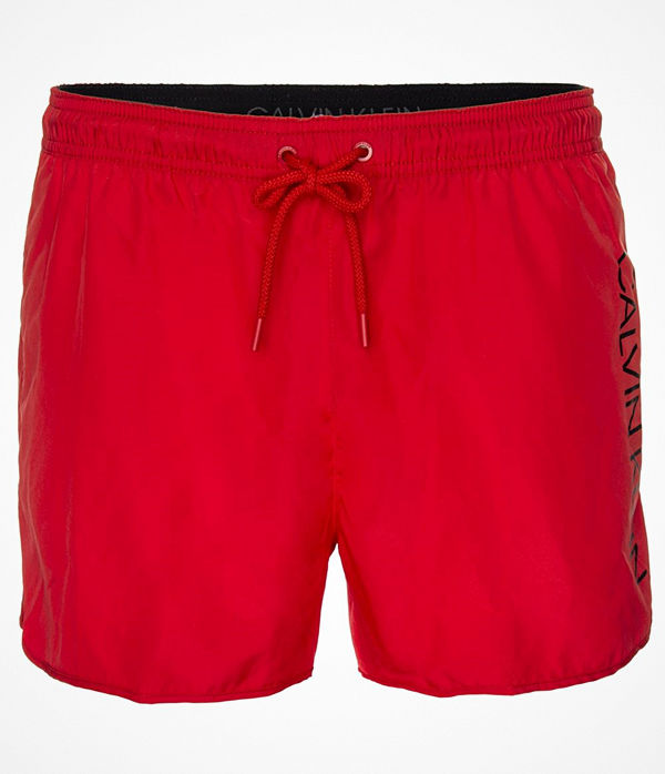 Calvin Klein Core Solids Short Runner Swim Shorts Red