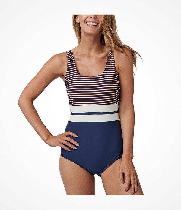 Abecita Retro Navy Swimsuit Navy Striped