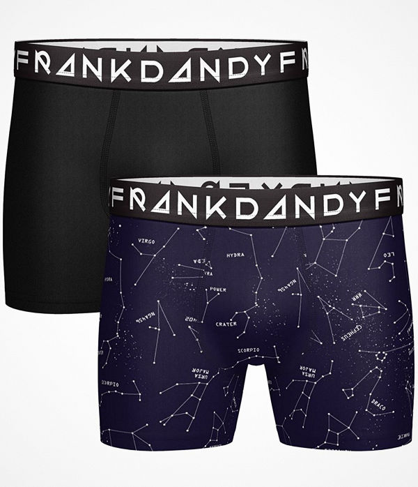 Frank Dandy 2-pack Starsign Boxers Black/Blue