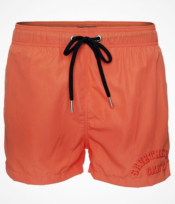 Gant Lightweight Short Cut Swim Shorts Orange
