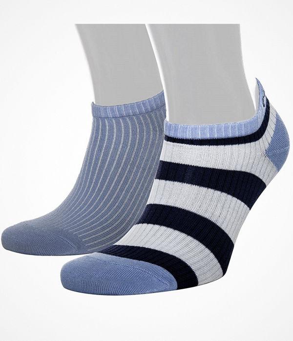 Calvin Klein 2-pack Olivia Bold Stripe Liner Socs Blue