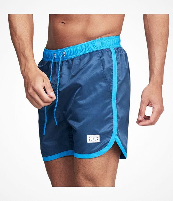 Frank Dandy Long Bermuda Swimshorts  Blue/Blue