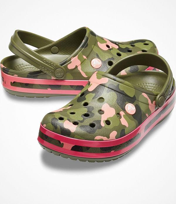 Crocs Crocband Graphic Clog Militarygreen
