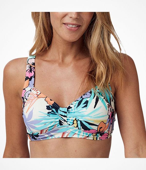 Abecita Sicilia Soft Wireless Bikini Bra White Pattern-2