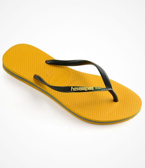 Havaianas Slim Brasil Logo Yellow