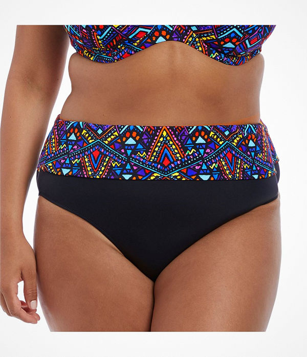 Elomi Swim Aztek Fold Bikini Brief Multi-colour