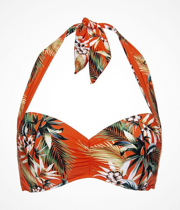 Seafolly Ocean Alley Soft Cup Halter Bikini Top Orange patterned