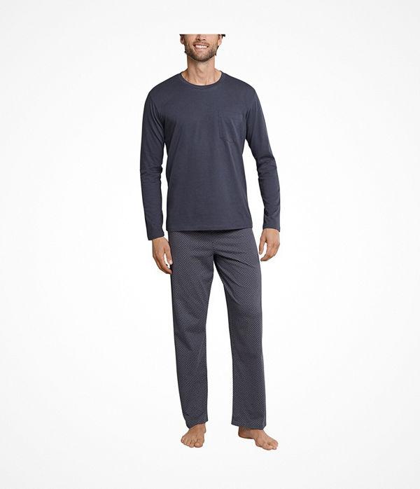 Schiesser Day and Night Long Pyjama Anthracite