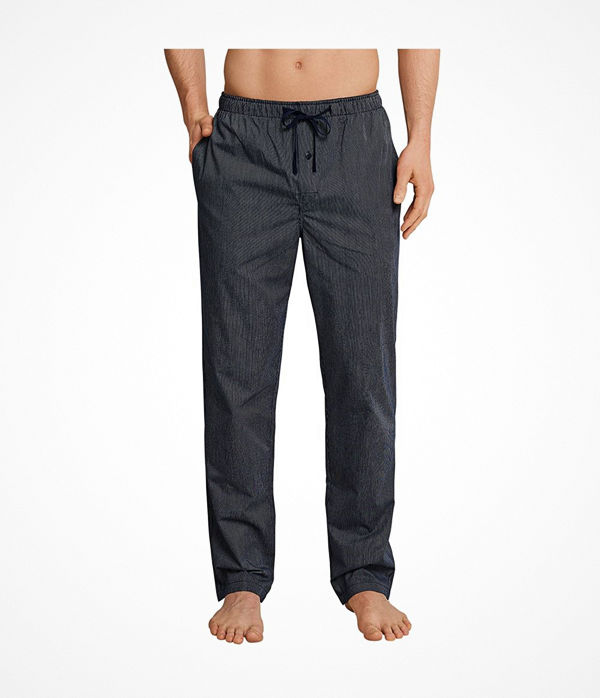 Schiesser Mix and Relax Woven Lounge Pants Darkblue
