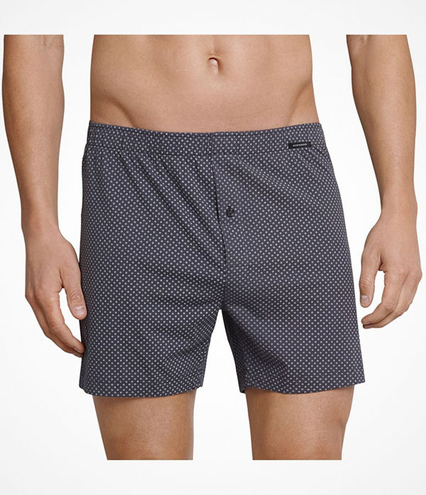 Schiesser Day and Night Pattern Boxershorts Anthracite