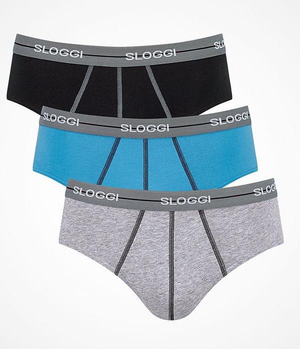 Sloggi 3-pack Men Start Midi C3P Grey/Black