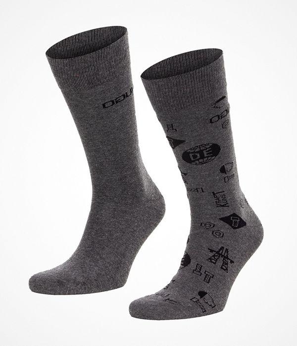 Hugo 2-pack RS Icons CC Socks Grey/Darkgrey