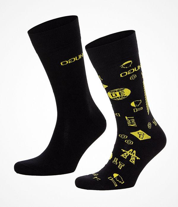 Hugo 2-pack RS Icons CC Socks Black/Yellow