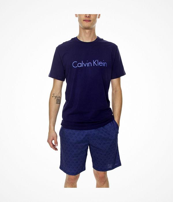 Calvin Klein Modern Cotton Stretch SS Short Set Blue