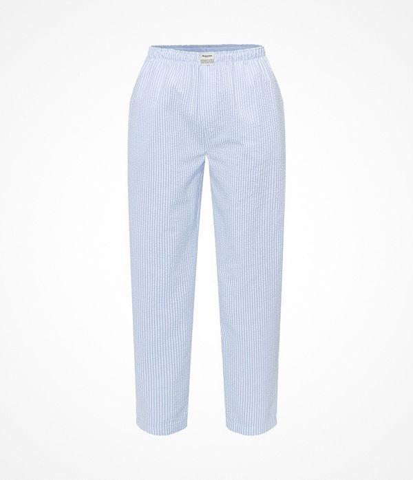 Resteröds Woven Pyjama Pants Lt blue Stripe