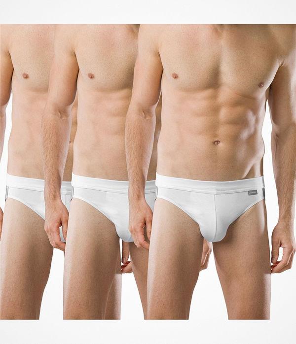 Schiesser 3-pack Essentials Cotton Rio Briefs White