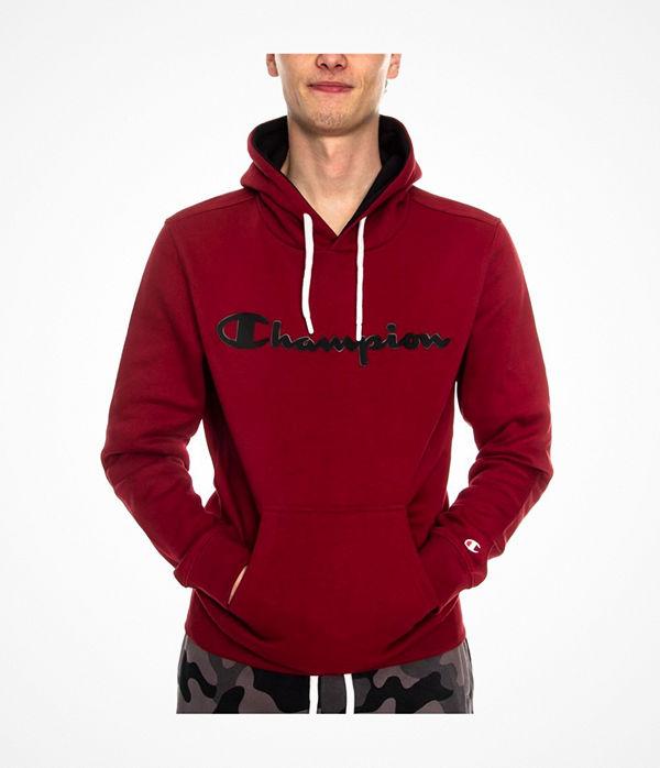 Champion Men Hooded Sweatshirt American Classic Wine red