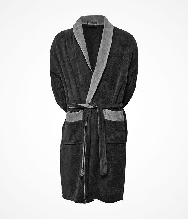 JBS Velour Bath Robe Darkgrey