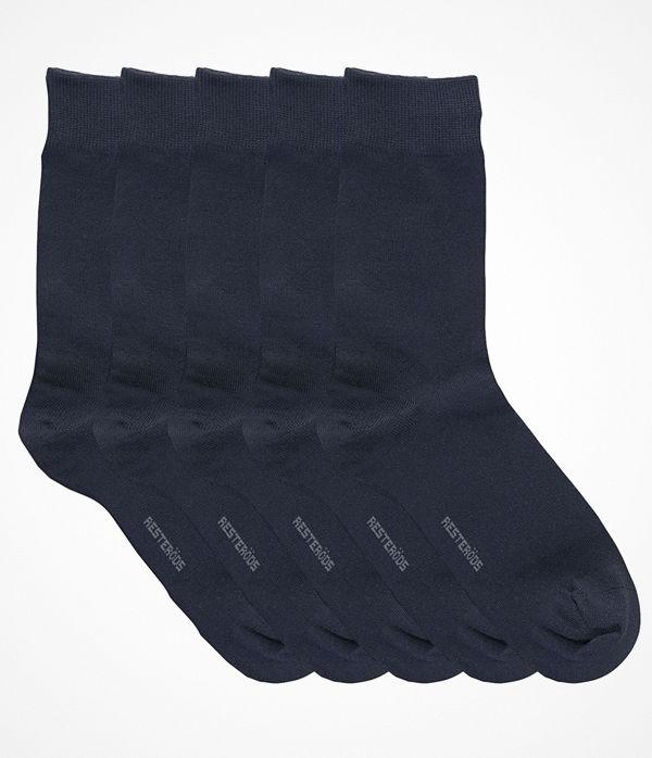 Resteröds 5-pack Cotton Socks Navy-2