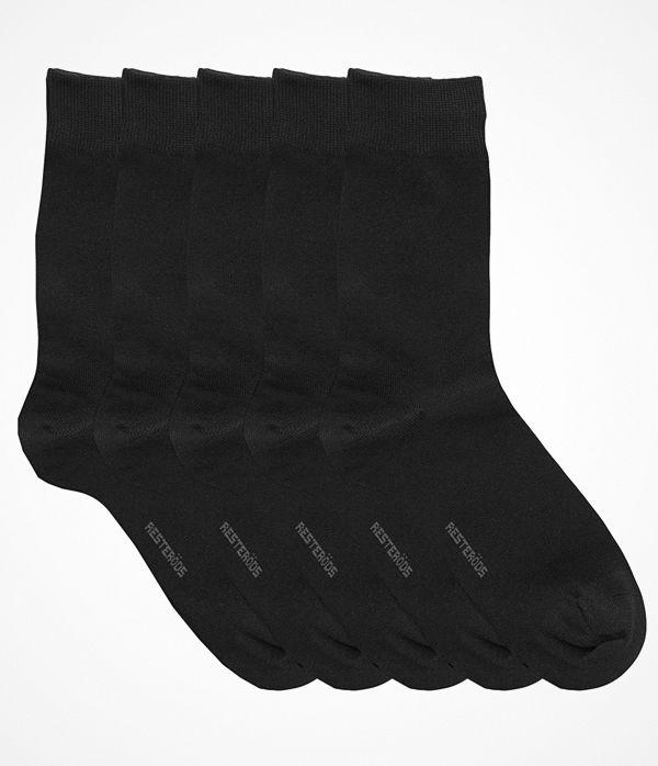 Resteröds 5-pack Cotton Socks Black