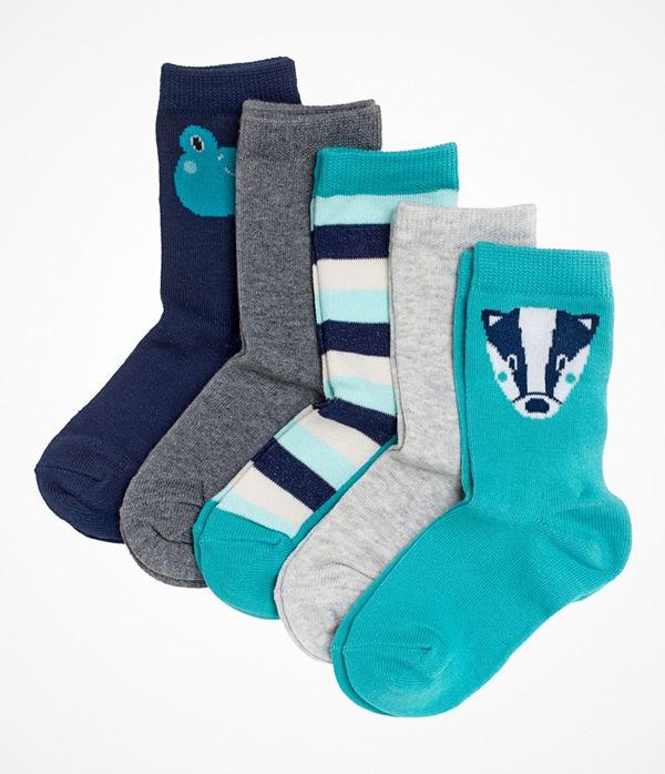 Pierre Robert 5-pack Eco Basic Socks For Kids Turquoise