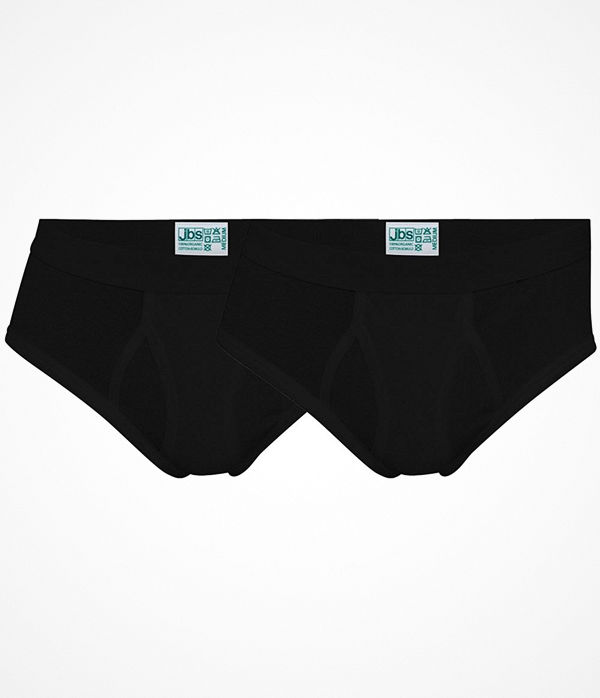 JBS 2-pack Organic Cotton Brief Black