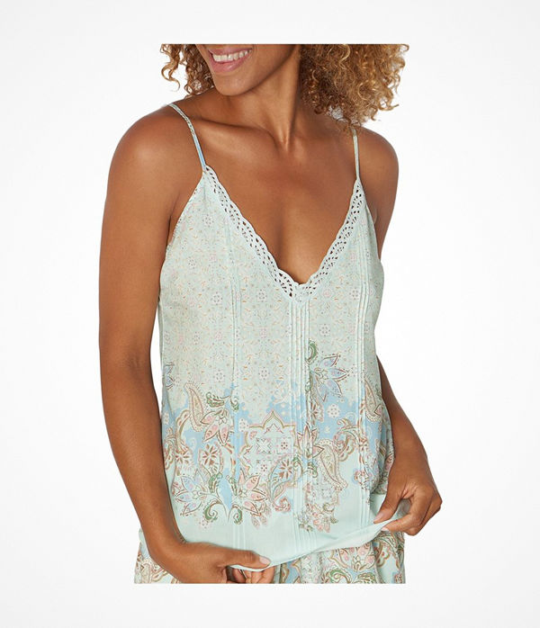 Triumph Lounge Me Natural Mix and Match Camisole  Blue Pattern
