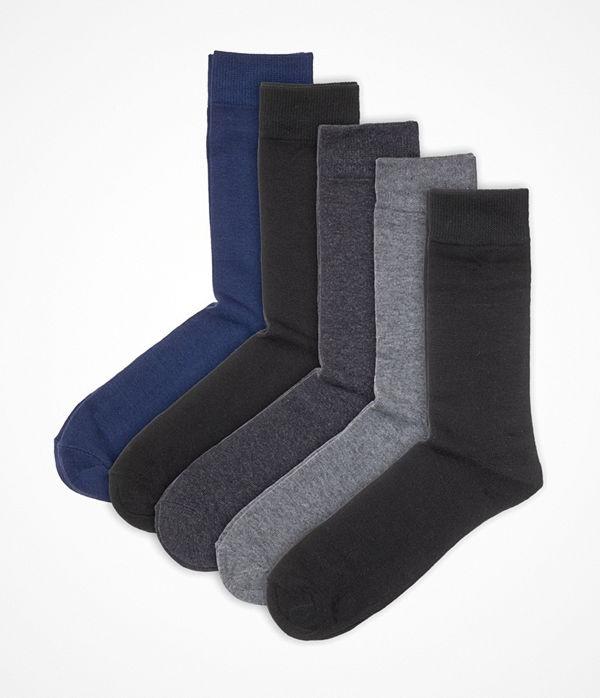 Pierre Robert 5-pack Eco Basic Socks Grey