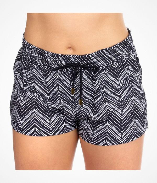 Trofé Trofe Mix Bikini Shorts Black pattern-2