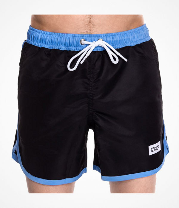 Frank Dandy Long Bermuda Swimshorts  Black/Blue