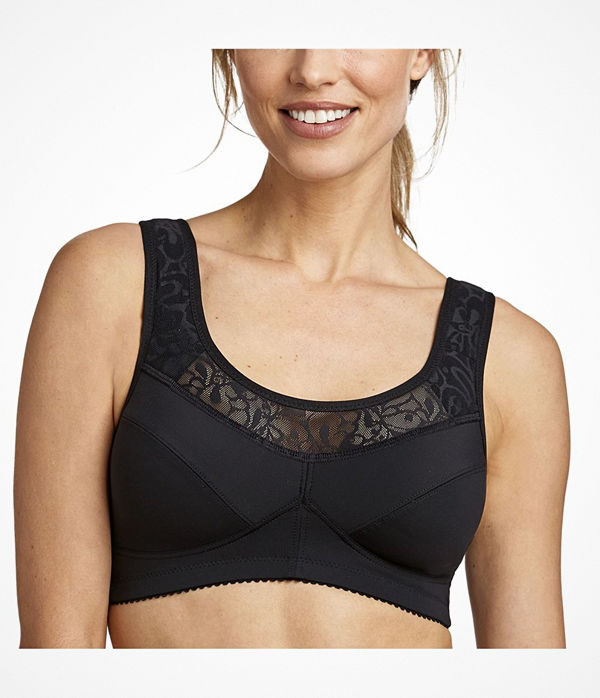 Miss Mary of Sweden Miss Mary Exhale Soft Bra Black