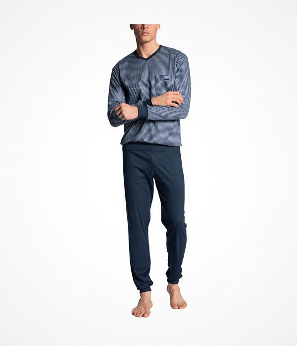Calida Relax Choice Pyjama With Cuff Indigo blue