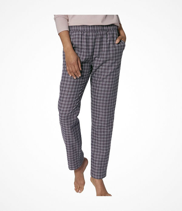 Triumph Lounge Me Cotton Mix and Match Flannel  Checked