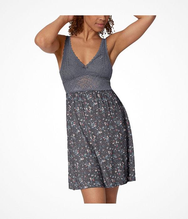 Triumph Lounge-Me Amourette Spotlight Night Dress Grey