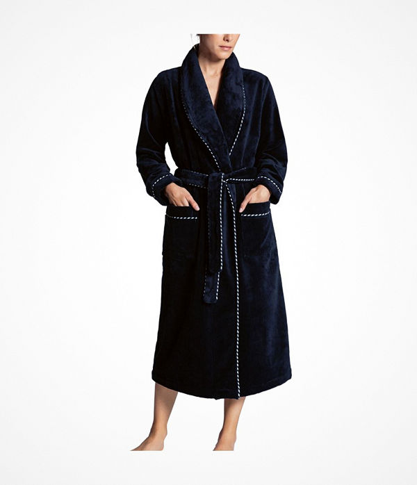 Calida After Shower Bathrobe Darkblue