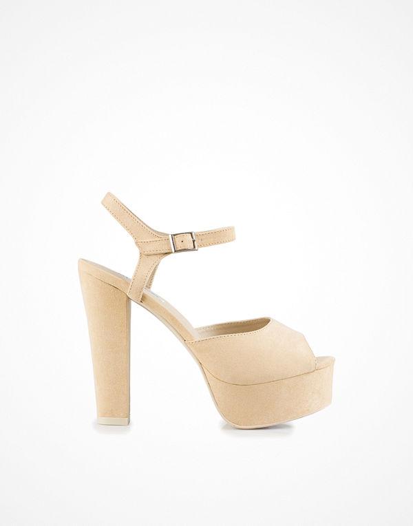 NLY Shoes Plain Platform Sandal Beige