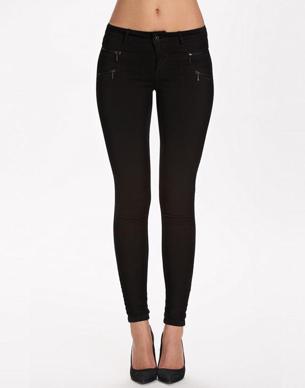 Only onlROYAL Reg Skinny Zip Jeans Dnm N