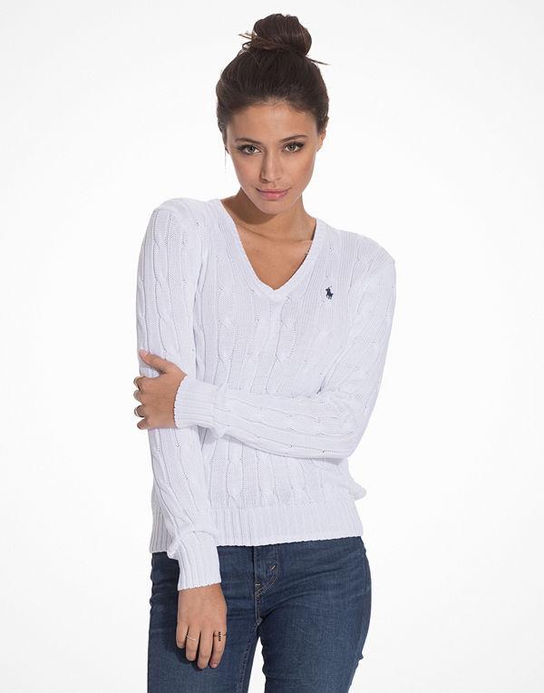 Polo Ralph Lauren Kimberly Long Sleeve Sweater White