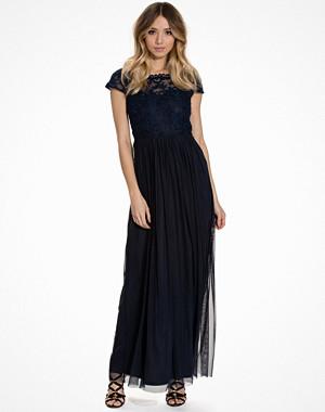 Vila Viulricana S/S Maxi Dress/Stu Blå