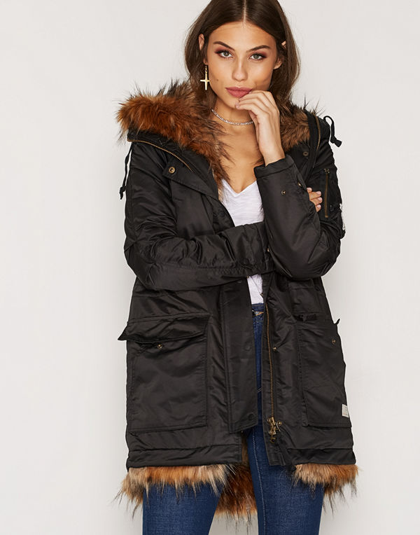 Odd Molly Storms Eye Parka Almost Black