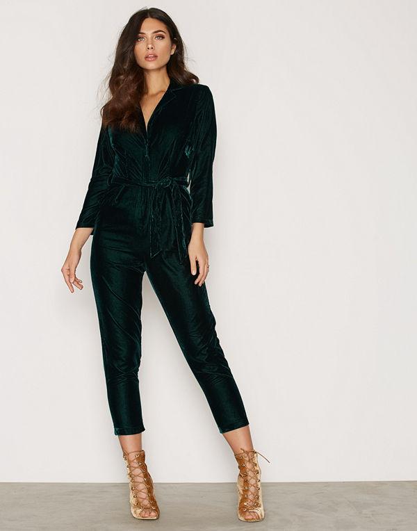 New Look Go Velvet Tux L/S Jumpsuit