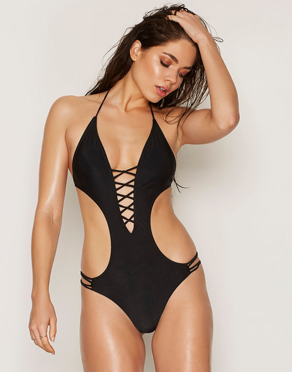 NLY Beach Low Plunge Swimsuit Svart