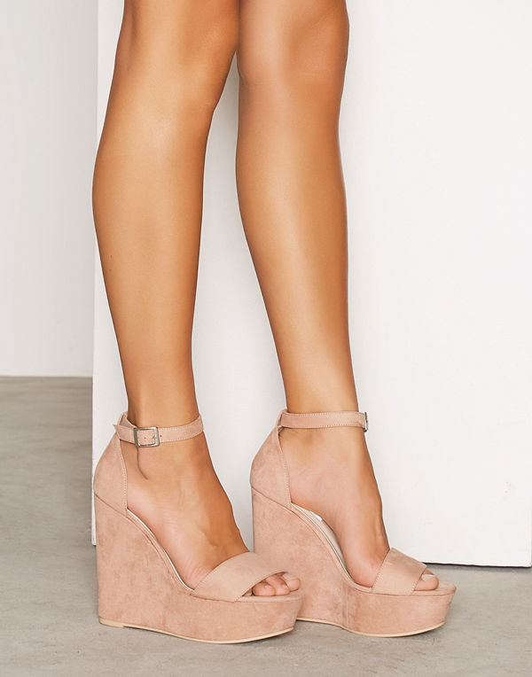 NLY Shoes Wedge Sandal Dusty Pink