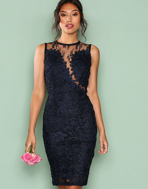 Ax Paris Dreamy Lace Dress Navy