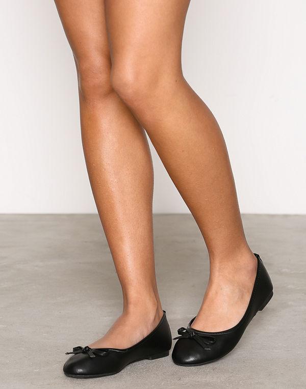 NLY Shoes Ballerina Svart